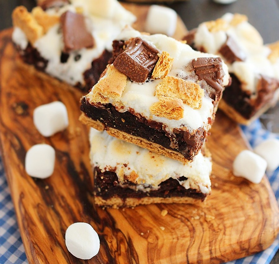 ... Gooey S'mores Brownie Bars – Eat More Chocolate Eat More Chocolate